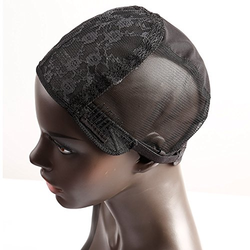 Bella Hair Glueless Wig Caps for Making Wig with Combs and Adjustable Straps Swiss Lace Black Small Size