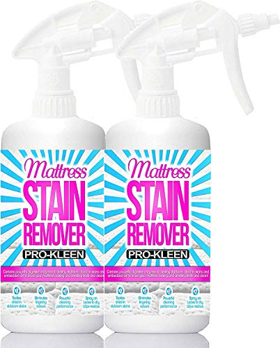 Pro-Kleen Mattress Stain Remover and Cleaner with Odour Neutraliser Removes Stains Caused by Urine, Blood, Vomit and Faeces 2 x 500 ml
