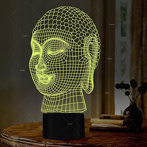 Only 1 piece Ambient 3d Lamp Export New Type 3d Table Led Night Lamp Novelty Led Usb Light Fixtures