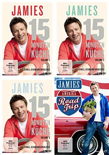 Jamie Oliver: Jamies-15-Minuten-Küche, Vols. 1-3 + Jamies Amerika (4 DVDs)