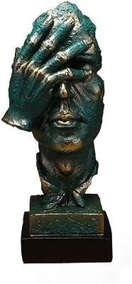 Salvador Dali Silence Cold Cast Bronze Sculpture With Base Statue Figurine Decor