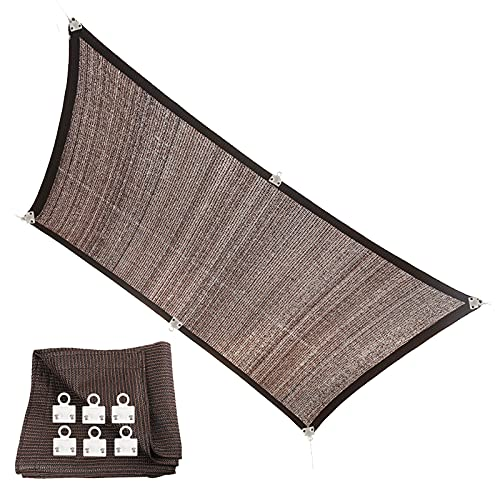 YJSMB Toldo Sombra, Malla Sombra 90% Malla De Protección Solar con Desmontable Clips para Invernadero, Patio De Plantas Huerta (Size : 5x6m/16.4x19.6ft)