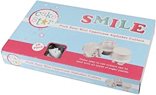 Cake Star Sugarcraft Push Easy Mini Icing Cutters Uppercase Alphabet Letters Set