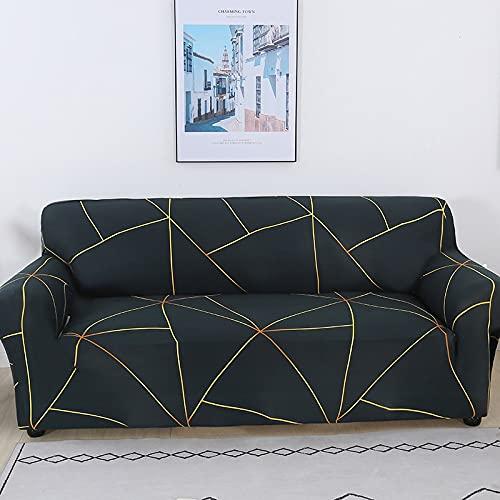 Flexibelt elastiskt rosa geometriskt överdrag soffhandduk heltäckande inslaget sofföverdrag för olika former soffa fåtölj A14 4-sits