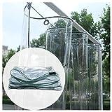 JJXL Vaso Lona Transparente, Tarea Pesada Lona De Plástico PVC Sábana De Cubierta Impermeable Multiusos con Ojales para Patio, Cortinas De Dosel (Color : Clear, Size : 4X8M)
