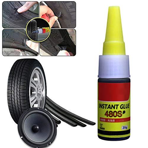 Fangteke Pegamento de Reparación de Neumáticos Pegamento Impermeable para Neumáticos Sellador de Neumáticos de Unión Fuerte Profesional para Coche Motocicleta Bicicleta Camión