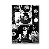 Vinyl Record Lovers Wandkunst Leinwand Malerei Nordic
