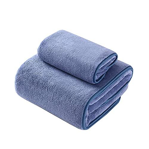 Paquete de 2 Toallas de baño Toallas de baño Toallas de Ducha de baño Toallas de Mano Grandes de algodón Secado rápido para el hogar y el Hotel (Color: Rosa) (Azul), Toalla de