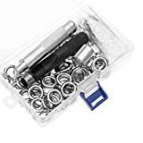 Grommet Tool Kit 100 Sets 1/2 Inch, LYNDA Grommets Eyelets with 3 Pieces Installation Tools for Craft Making, Repair and Decoration.