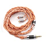 Linsoul LSC09 6N「高純度単結晶銅」銀メッキ四つ編みグランド独立ケーブル 金メッキMMCXコネクターと3.5mmプラグ耳掛け式リケーブル HIFI音源に対応 市場でBGVP-DMG BGVP‐DM6 SHURE SE215 Westone などに対応できられ 断線にくい 持ち軽いイヤホンケーブル (LSC09-2.5mm-MMCX)