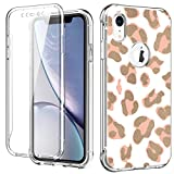 ZHK iPhone XR Case, Leopard Shockproof Case with Built-in Screen Protector Soft TPU Flexible TPU Full-Body Transparent Bumper Protective Stylish Cover Case for iPhone XR (6.1-inch,2018)