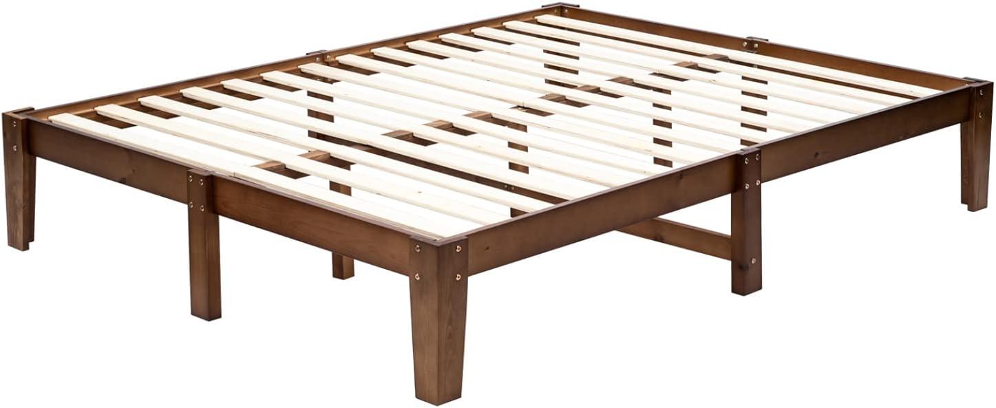 Bonnlo 14 Inch Solid Wood Platform Bed Spring Ranking TOP6 Tulsa Mall Need Box No Frame