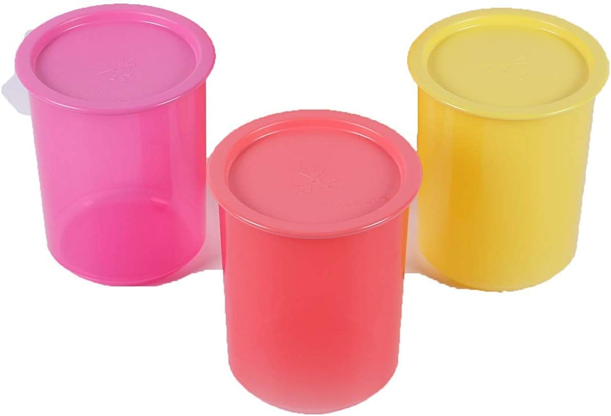 Tupperware Multicolor Plastic One Touch Canister - Set of 3