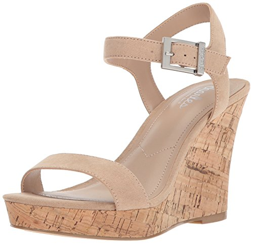 Charles by Charles David Women's Lindy Wedge Sandal, Nude, 9 Medium US