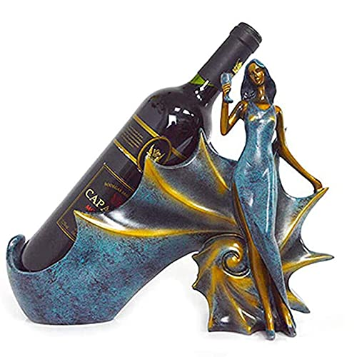FDesign Estante de Vino Botella de Belleza Botella Conch Soporte Rack Almacenamiento con Estilo Lady Regalo Gabinete Estante Casa Oficina Accesorio Bar Restaurante Regalo de Fiesta