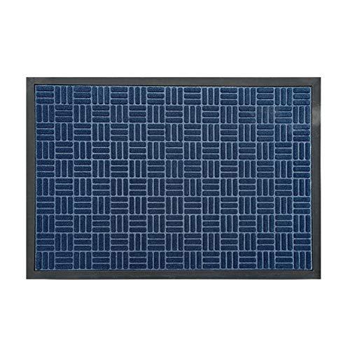 Apoyo Antideslizante Azul El Portero de Goma/Estera de Entrada es fácil de Limpiar la Estera de Piso, Adecuada para la Salida de Interior/Exterior (Color : Azul, tamaño : 45X75CM)