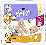 bella baby Happy Windeln Größe 2 Mini mit Urin-Indikator, 1er Pack (1 x 156 Stück) - 3