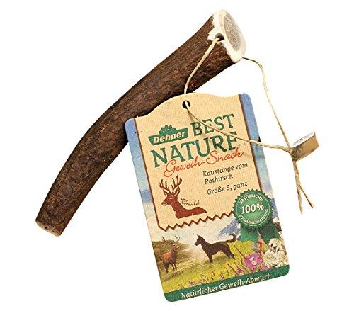 Dehner Best Nature Hundesnack, Kaustange, Geweih vom Rothirsch, ganz, S