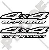 4X4 OFF ROAD Four Wheel Drive JEEP PickUp 8' (200mm) Auto & Motorrad Aufkleber, x2 Vinyl Stickers - 22 Farben zur Auswahl