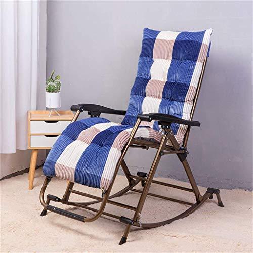 N /A Chaise à bascule de jardin pliable et inclinable - Siège zéro gravité - Cadre en acier léger et robuste - Rangement facile - Pas besoin d'installation