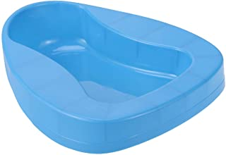 SUPVOX Thick Bariatric Bedpan Elderly Care Bedpan with Guard and Built-in Handles for Female Patient (Blue)