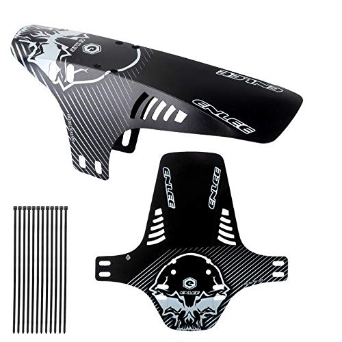 JJvKa Protective plates mountain bike, mountain bike splash guard, MTB front and rear compatible mudguard, bicycle accessories MTB Mud Guard fit 20 26 27 27.5 inch 29 inch fat bike.