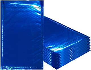 Amiff Bubble mailers 7.25 x 11. Padded envelopes 7 1/4 x 11. Exterior Size 8x12 (8 x 12). Peel & Seal. Glamour Metallic foil. Pack of 20 Blue Cushion envelopes. Mailing, Shipping, Packaging.