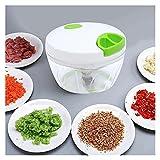 WEIXIAO Wlkh - Cortador manual de frutas y verduras, cortador de alimentos con forma de cebolla, tuercas, molinillo de verduras, multifunción, accesorio de cocina