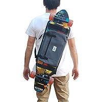 Mochila para Llevar el Longboard electrico, Surf Skate o Skateboard Completo, Idea de Regalo. Color Gris.