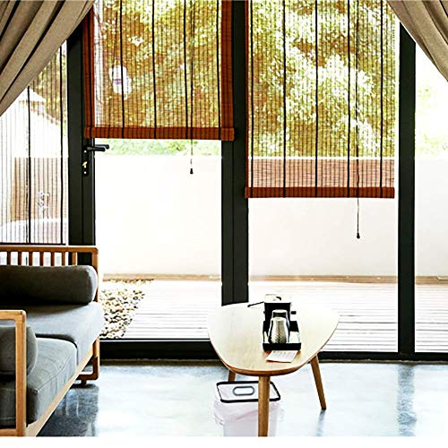 JSONA Persiana Enrollable para Exteriores, persiana Enrollable para Gazebo de Ventana, persianas de bambú, 60cm / 70cm / 80cm / 90cm / 100cm / 110cm / 120cm / 130cm / 140cm / 150cm Ancho (Tamaño: