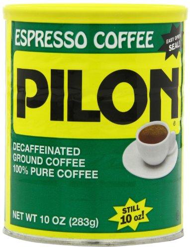 Pilon Decaffeinated Espresso Coffees, 10 Ounce (Pack of 12)