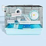 HZHI Cage Hamster Plastique Cage Hamster Nain Cage À Hamster Cage De Base Villa Surdimensionnée Paquet De À Trois Niveaux Fournitures De Hamster