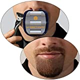 Mens Goatee Shaving Template | Create a Perfectly Shaped Goatee Every Time | Adjustable | Reduces Shaving Time | Shape Van Dyke, Goatee and Circle Beard, by GoateeSaver (Version 1.1)