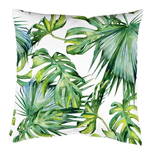 Home Fashion sierkussen Jungle incl. vulkussen (binnenkussen), naar keuze 40x40 cm of 50x50 cm, als enkel kussen of in set van 2, kleur: groen,