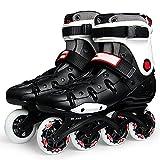 Patines para mujeres, ruedas de poliuretano altamente elásticas y resistentes al desgaste, patines profesionales agresivos para exteriores, patines para uso en múltiples escenas(Size:8 /(25CM) /39)