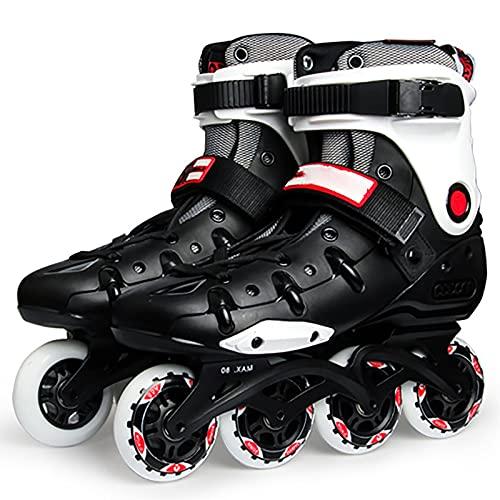 Patines para mujeres, ruedas de poliuretano altamente elásticas y resistentes al desgaste, patines profesionales agresivos para exteriores, patines para uso en múltiples escenas(Size:6 /(23CM) /37)