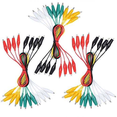 Neoteck Messleitung Test Lead 30 PCS 19,7 Zoll Krokodilklemmen Test Lead Set für die meisten Lichter des elektronischen Werks vom Experiment im rechnergestützten Prototyp