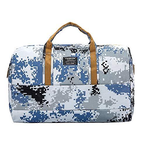 XuZeLii Sport Gym Bag Fitness Handbag Large Capacity Portable Travel Bag Camouflage Luggage Bag Suitable for Work Travel (Color : A, Size : 46 x 35 x 24cm)