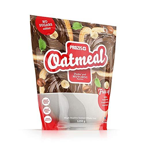 Prozis Oatmeal - Cereales Repletos de Proteínas, Hidratos de Carbono de Alta Calidad y Fibras Saciantes - Sabor NutChoc - 1250 g