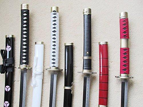 S2697 Anime ONE Piece SHUSUI WADO ICHIMONJI YUBASHIRI SANDAI KITETSU Serial Sword Gun Metal HAMON 41' LOT 4