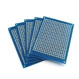 DollaTek 5 Pezzi Circuito Stampato prototipo 5 X 7 cm Fai da Te prototipo PCB stripboard Matrix