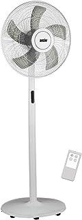 ANSIO Ventilador de Pedestal 16 Pulgadas (40,64 cm) – Ventilador del Stand y 8 velocidades – Blanco - 2 años de garantía (Pilas NO Incluidas)