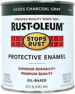 Rust-Oleum 7784502 Stops Rust, 32 oz. Quart, Gloss Charcoal Gray