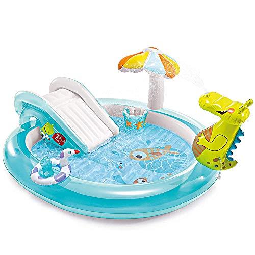 Achtertuin opblaasbare Water Slide for Kids Round peuterbad, Outdoor Fountain Perfect voor Verjaardagen Partijen Fun