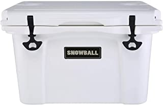 Snowball Coolers, Rotomolded Insulation Ice Chest for Camping, Fishing, Hunting, BBQs & Outdoor Activities, White, 37QT(35L)