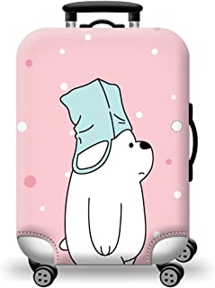 TDC Men's Elastic Luggage Cover Luggage Suitcase CoverPink Bear Printing XL pink