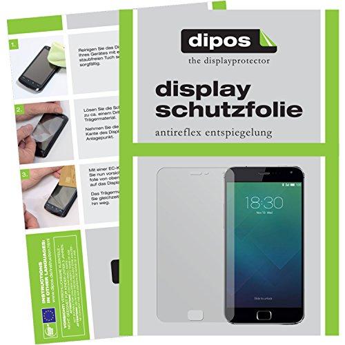 dipos I 6X Schutzfolie matt kompatibel mit Meizu MX4 Pro Folie Bildschirmschutzfolie