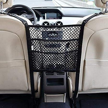 Esteopt Car Seat Storage Mesh Car Organizers Car Seat Side Back Storage String Bag Mesh 3-Layer Car Storage Organizer Seat Back Net Bag