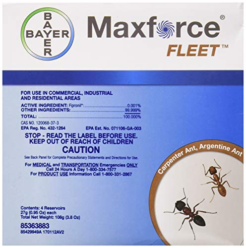 Bayer 10072 Max Force Fleet Ant Gel, Light Yellow