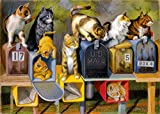 Ravensburger Cat's Got Mail Large Format 300 Piece Jigsaw Puzzle for Adults – Every Piece is Unique, Softclick Technology Means Pieces Fit Together Perfectly